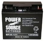 12 Volt, 20 Amp Sealed Maintenance Free Battery